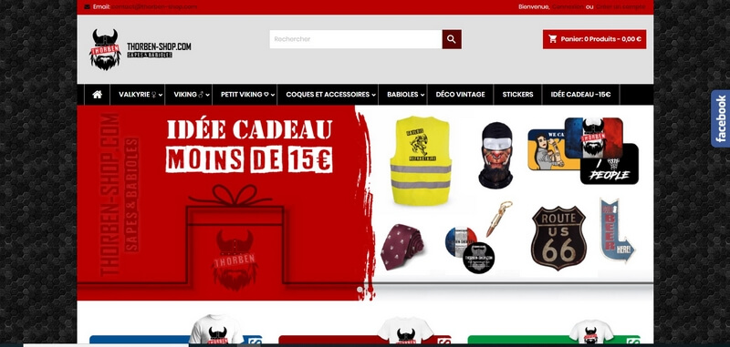 Thorben Shop - Shop humoir noir et motards